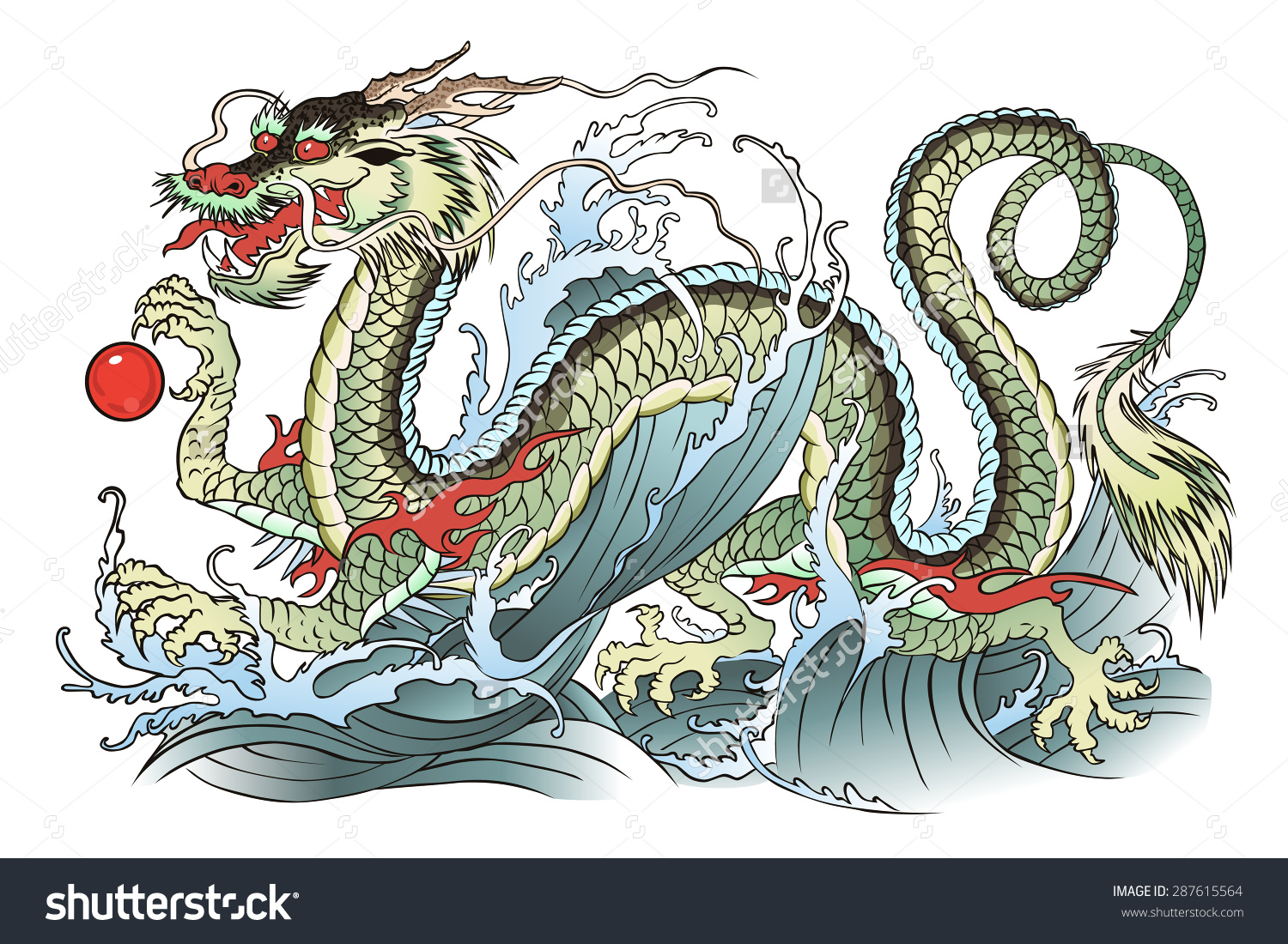 Eastern Water Dragon clipart #1, Download drawings