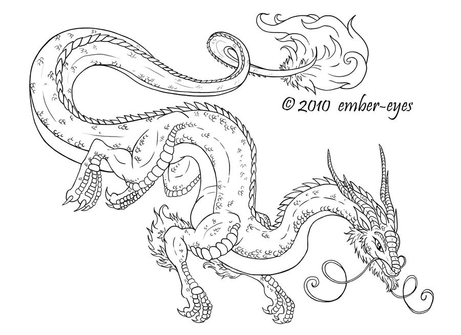 Realistic Water Dragon Coloring Pages Download