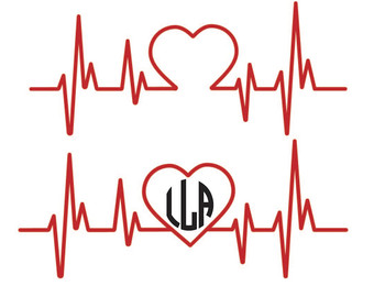 Heartbeat svg #2, Download drawings