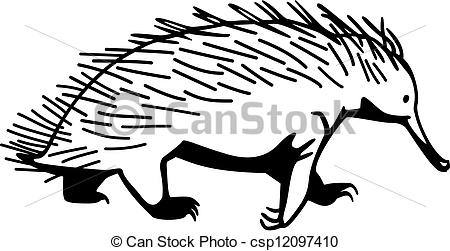 Echidna clipart #2, Download drawings