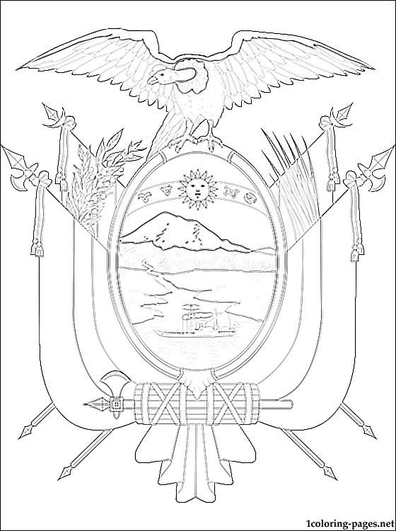 Ecuador coloring #11, Download drawings