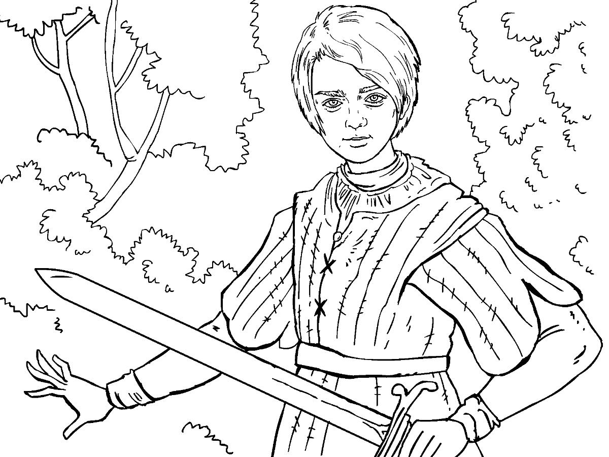 Eddard Stark coloring #12, Download drawings