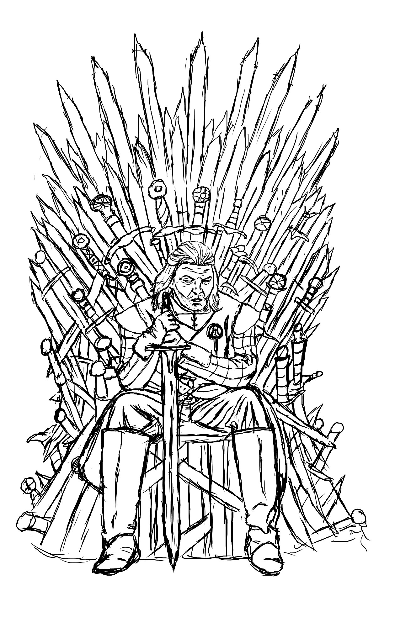 Eddard Stark coloring #3, Download drawings
