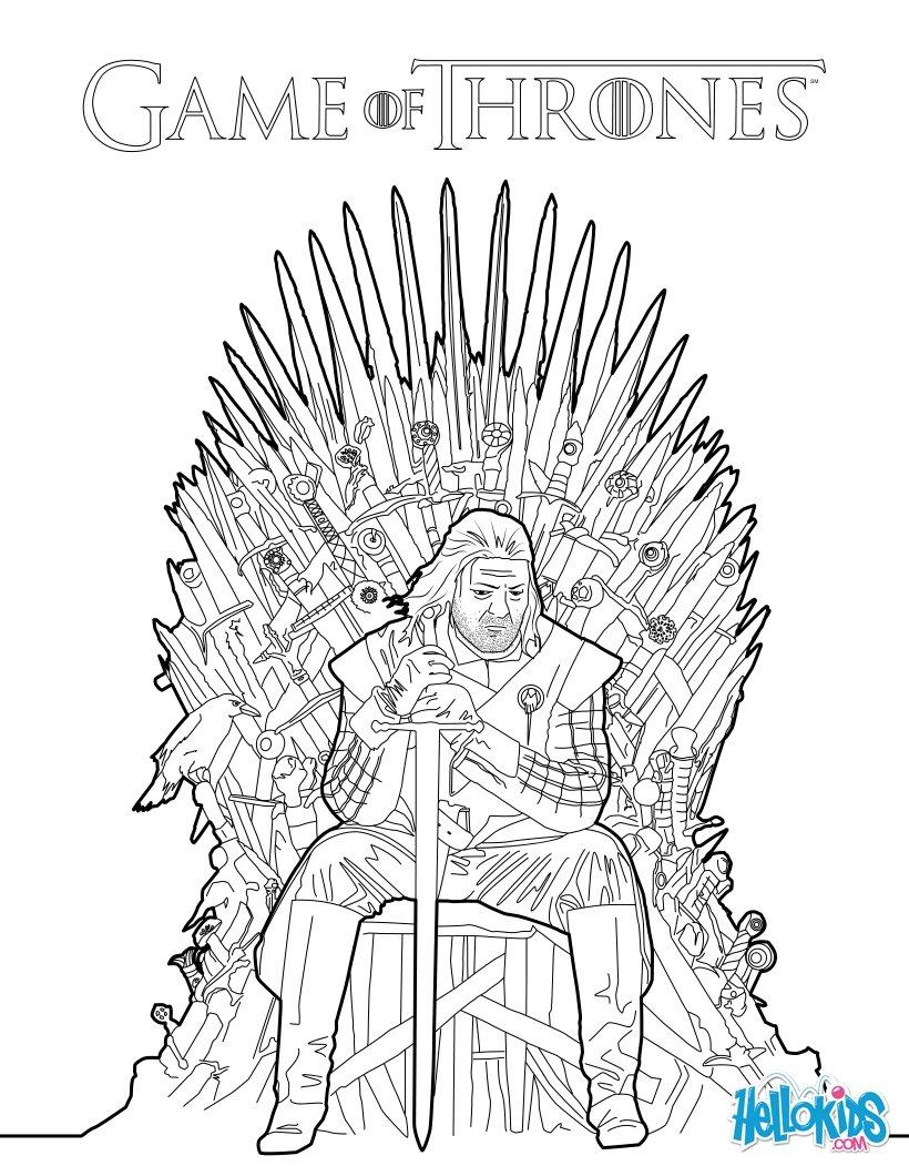 Eddard Stark coloring #13, Download drawings