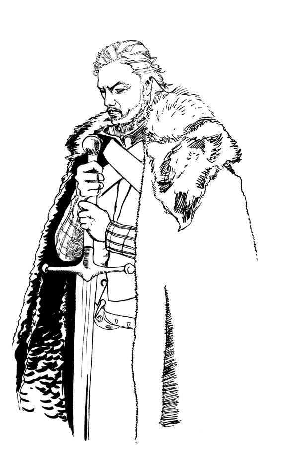 Eddard Stark coloring #9, Download drawings