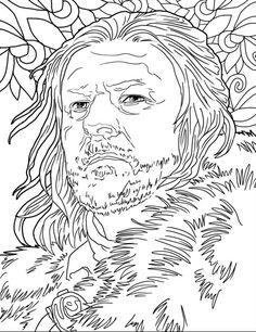 Eddard Stark coloring #18, Download drawings