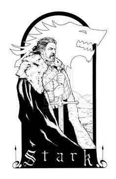 Eddard Stark coloring #1, Download drawings