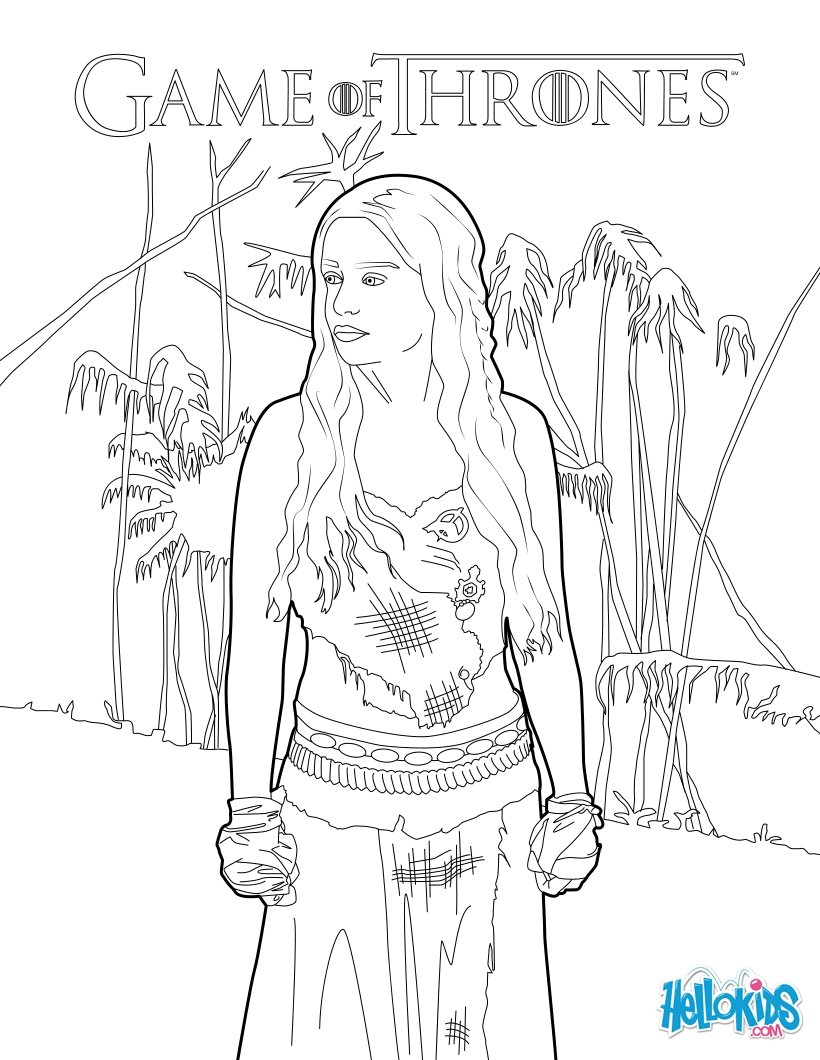 Game Of Thrones coloring #10, Download drawings