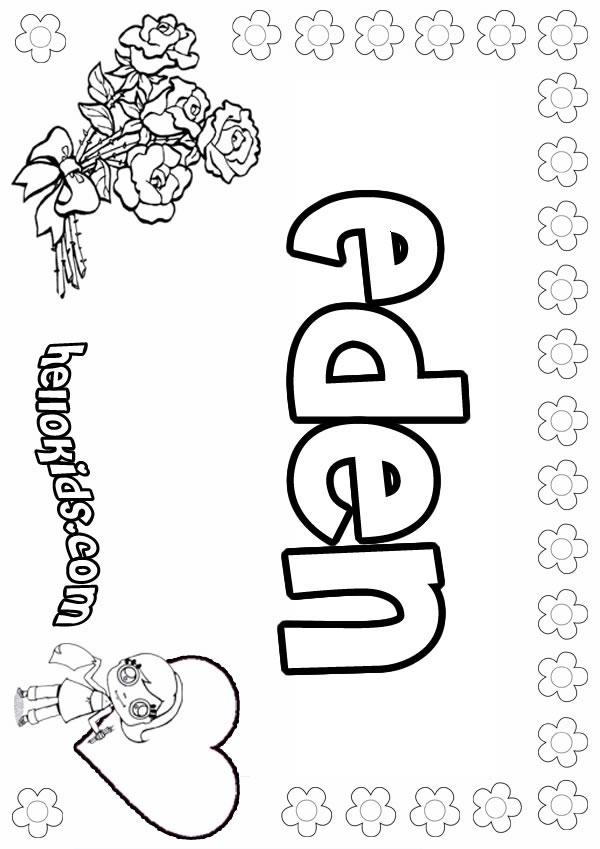 Eden coloring #14, Download drawings