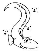 Eel coloring #10, Download drawings