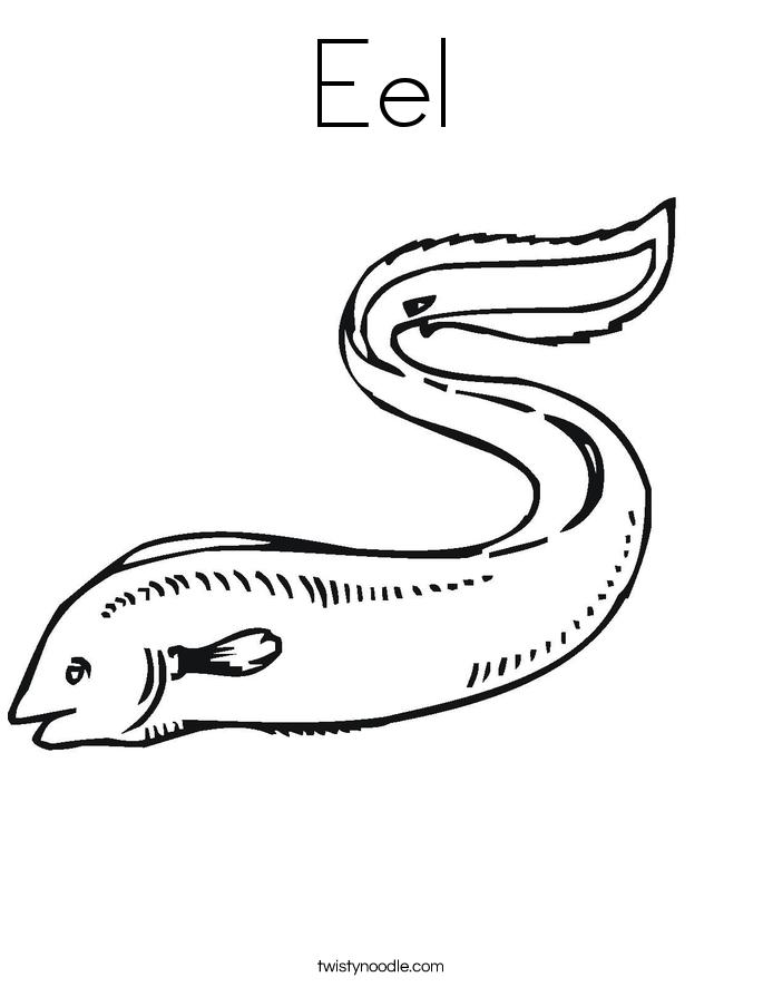 Eels coloring #6, Download drawings