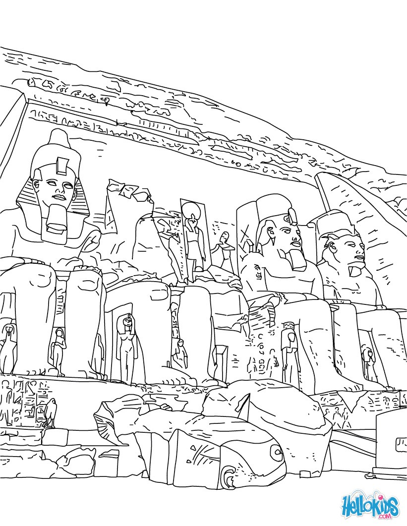 Egypt coloring #6, Download drawings