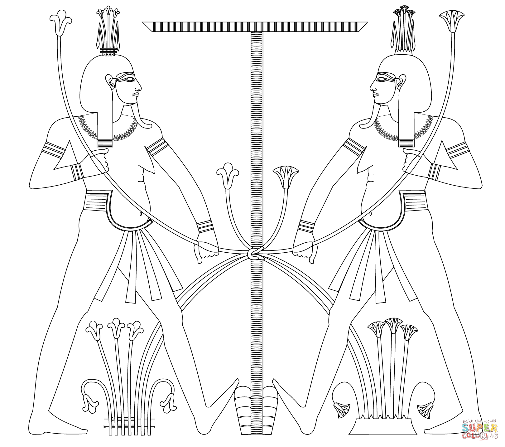 Egyptian coloring #7, Download drawings
