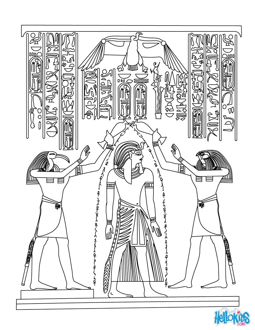 Egyptian coloring #20, Download drawings