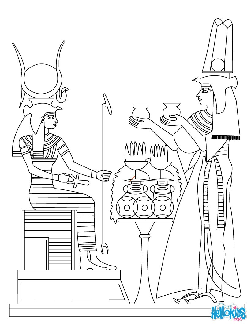 Egypt coloring #14, Download drawings
