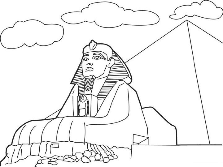 Egypt coloring #20, Download drawings