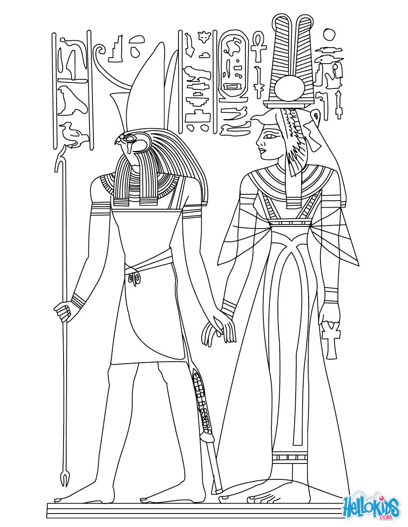 Egypt coloring #10, Download drawings