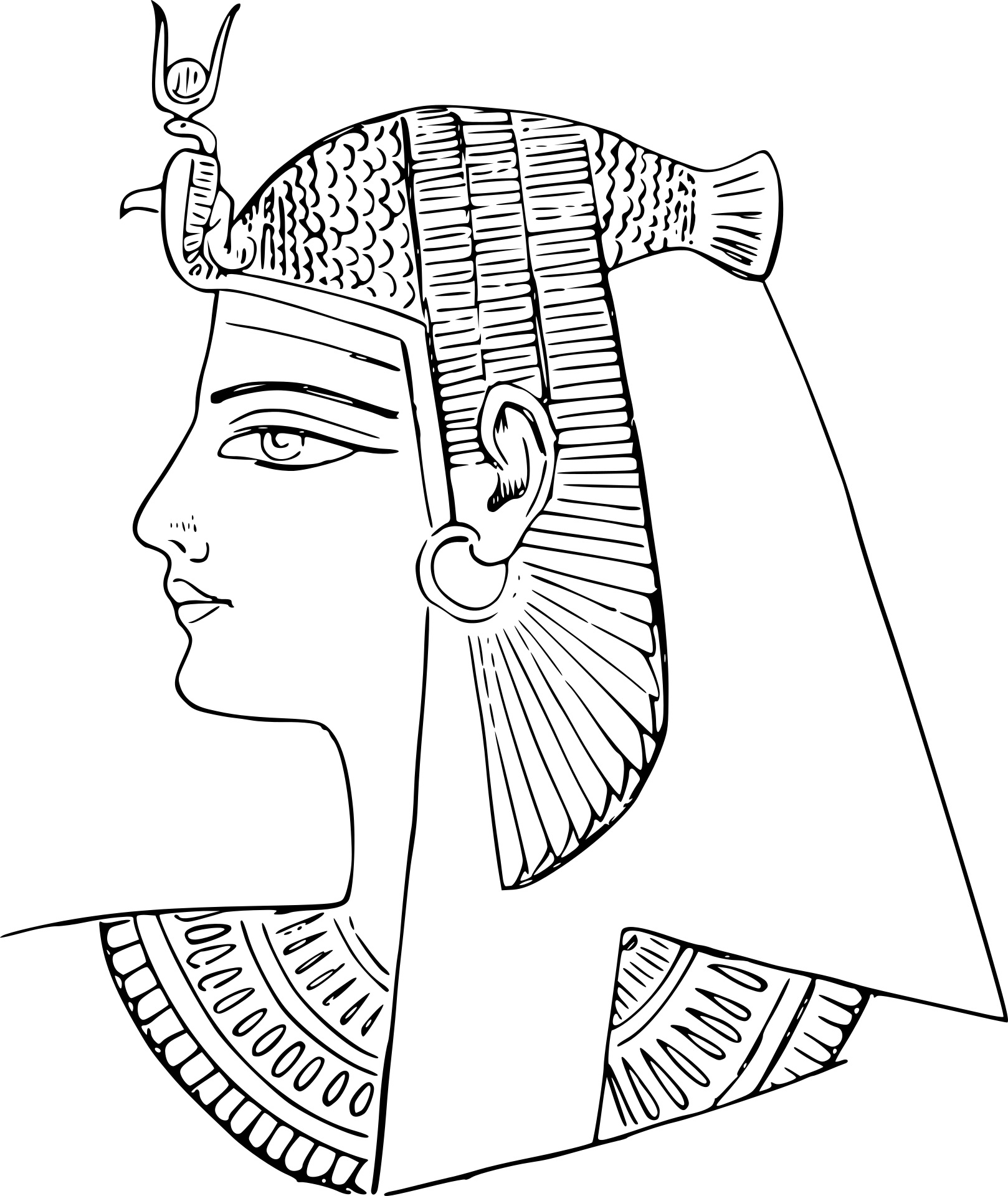 Egyptian coloring #1, Download drawings