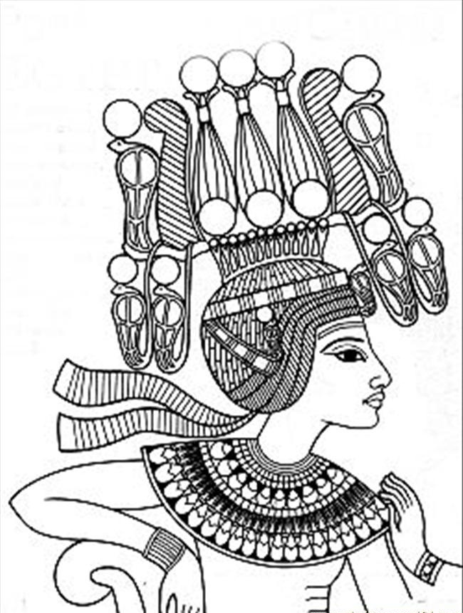 Egyptian coloring #11, Download drawings