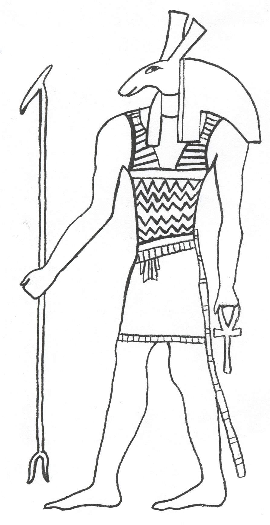 Egyptian coloring #4, Download drawings