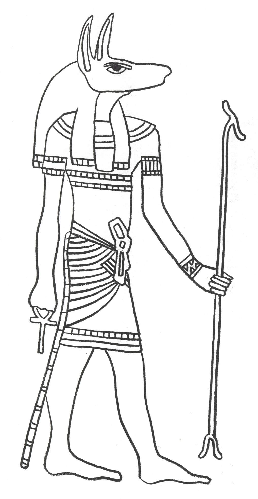 Egyptian coloring #17, Download drawings