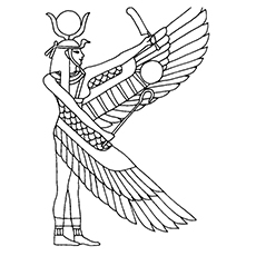 Egyptian coloring #3, Download drawings