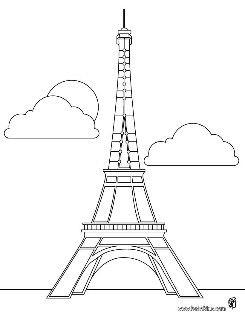 Eiffel Tower coloring #16, Download drawings