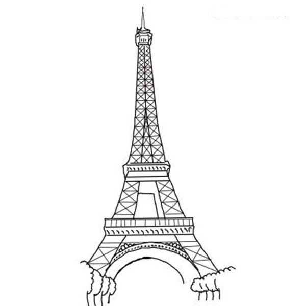Eiffel Tower coloring #1, Download drawings