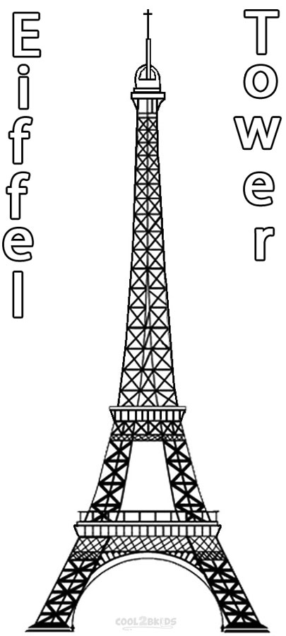 Eiffel Tower coloring #15, Download drawings