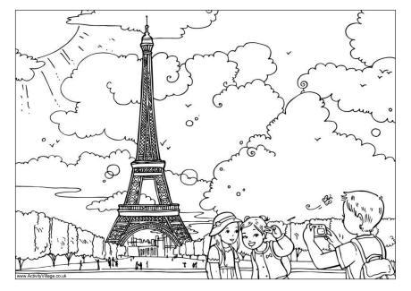 Eiffel Tower coloring #9, Download drawings