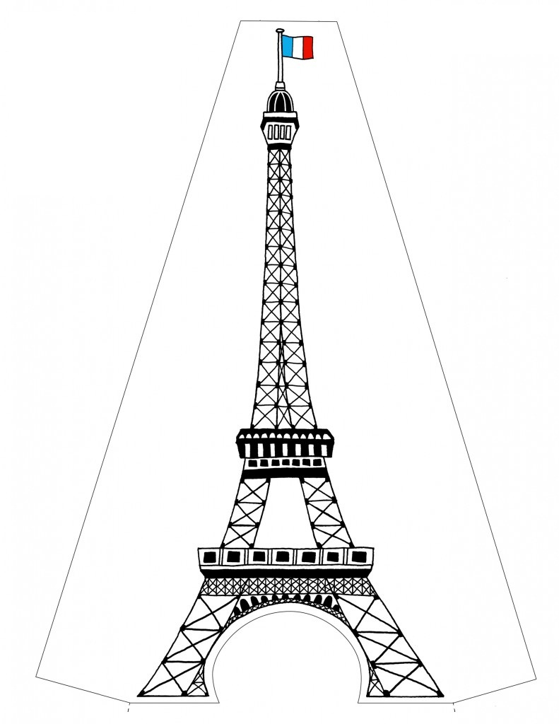 Eiffel Tower coloring #13, Download drawings
