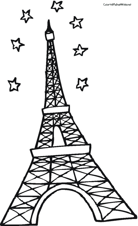 Eiffel Tower coloring #10, Download drawings