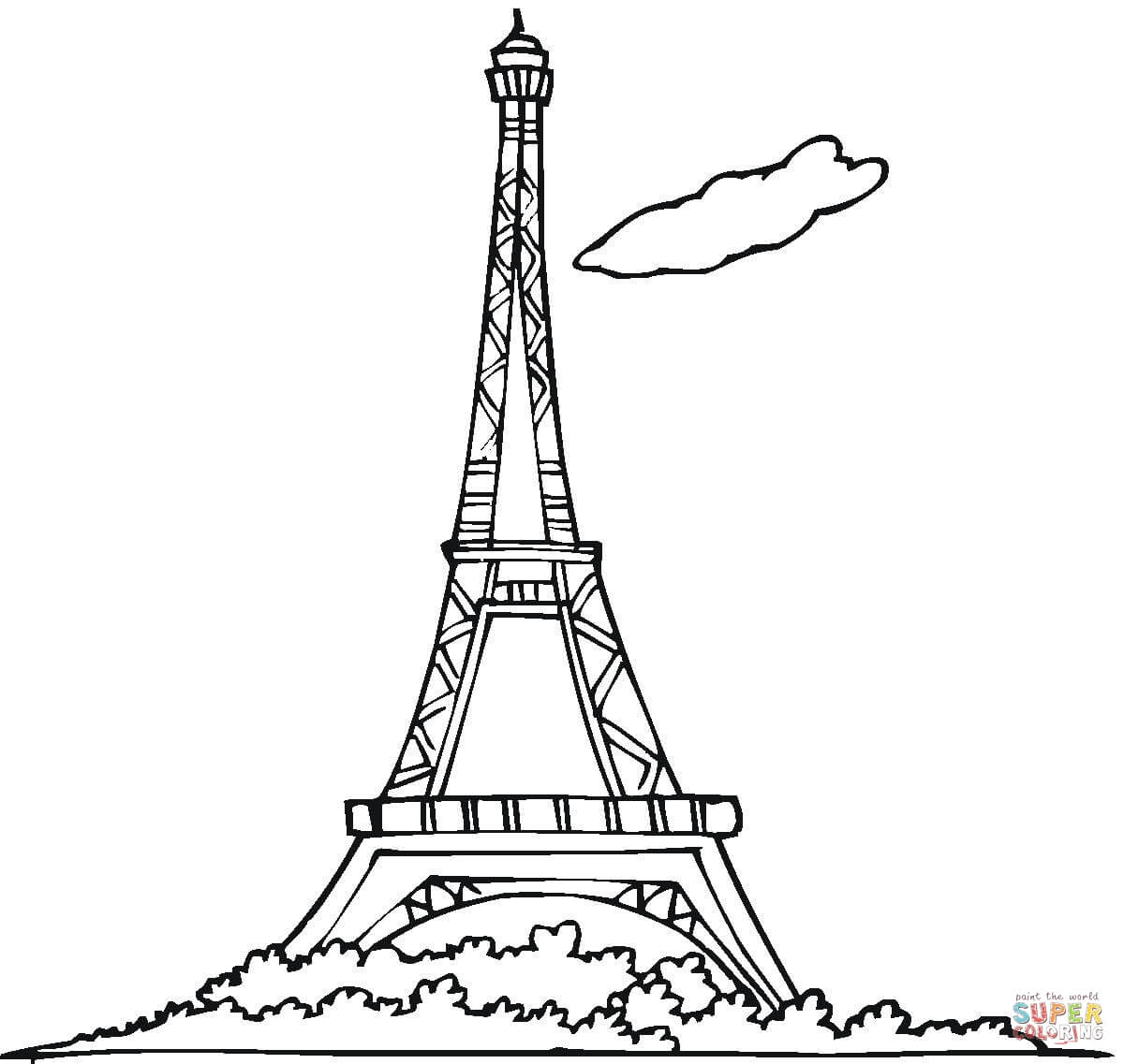 Eiffel Tower coloring #6, Download drawings
