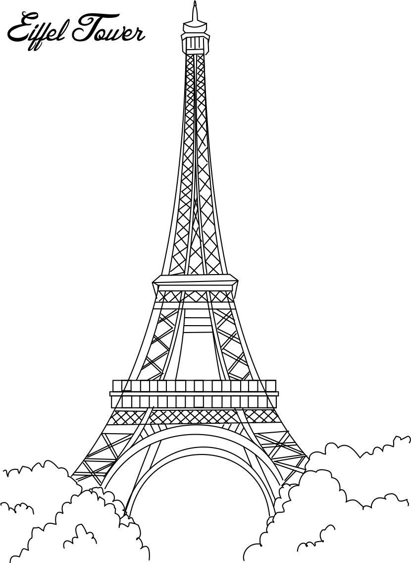 Eiffel Tower coloring #20, Download drawings