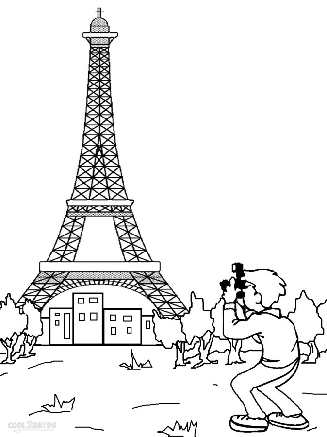 Eiffel Tower coloring #19, Download drawings