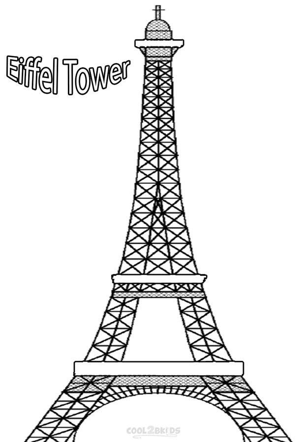 Eiffel Tower coloring #18, Download drawings