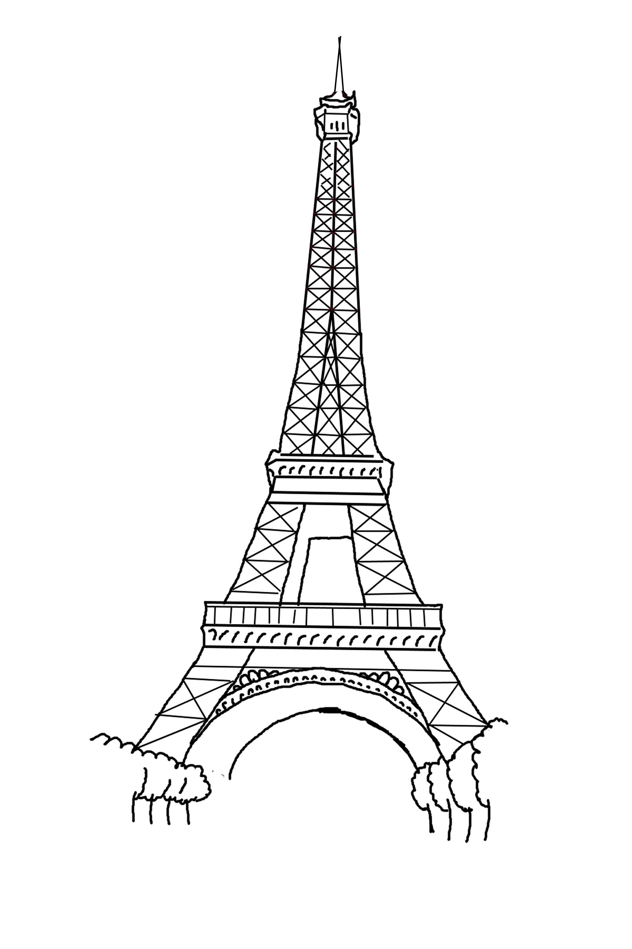 Eiffel Tower coloring #14, Download drawings