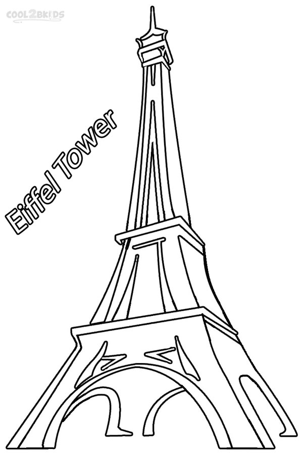 Eiffel Tower coloring #2, Download drawings