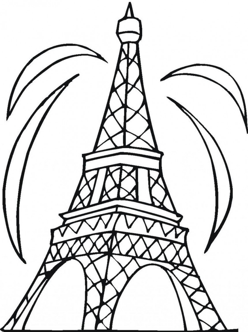 Eiffel Tower coloring #3, Download drawings