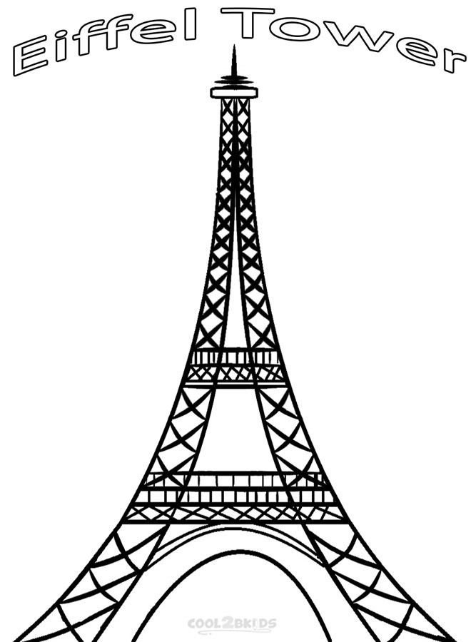 Eiffel Tower coloring #17, Download drawings