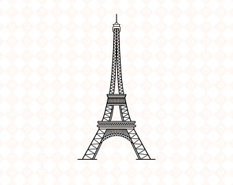 Eiffel Tower svg #1, Download drawings