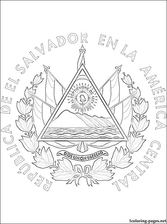 El Salvador coloring #2, Download drawings