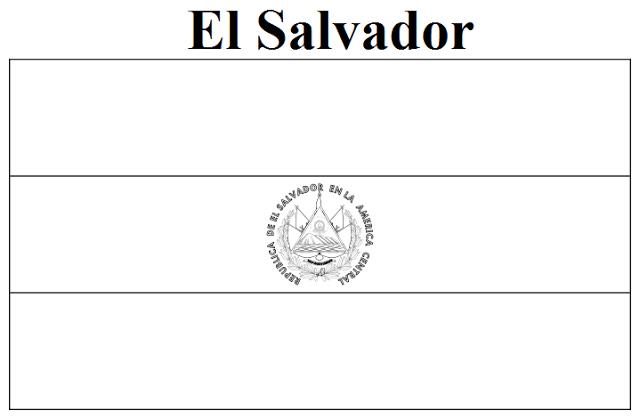El Salvador coloring #4, Download drawings