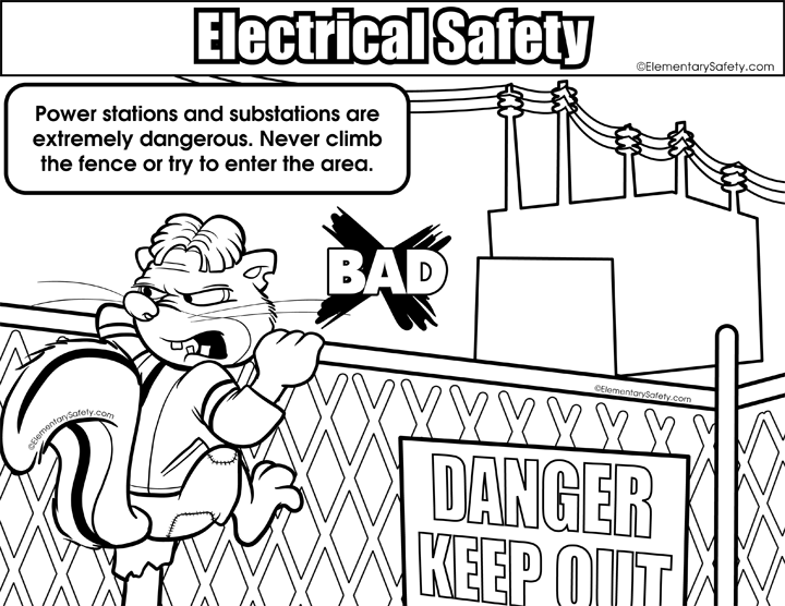 Electricity coloring #3, Download drawings