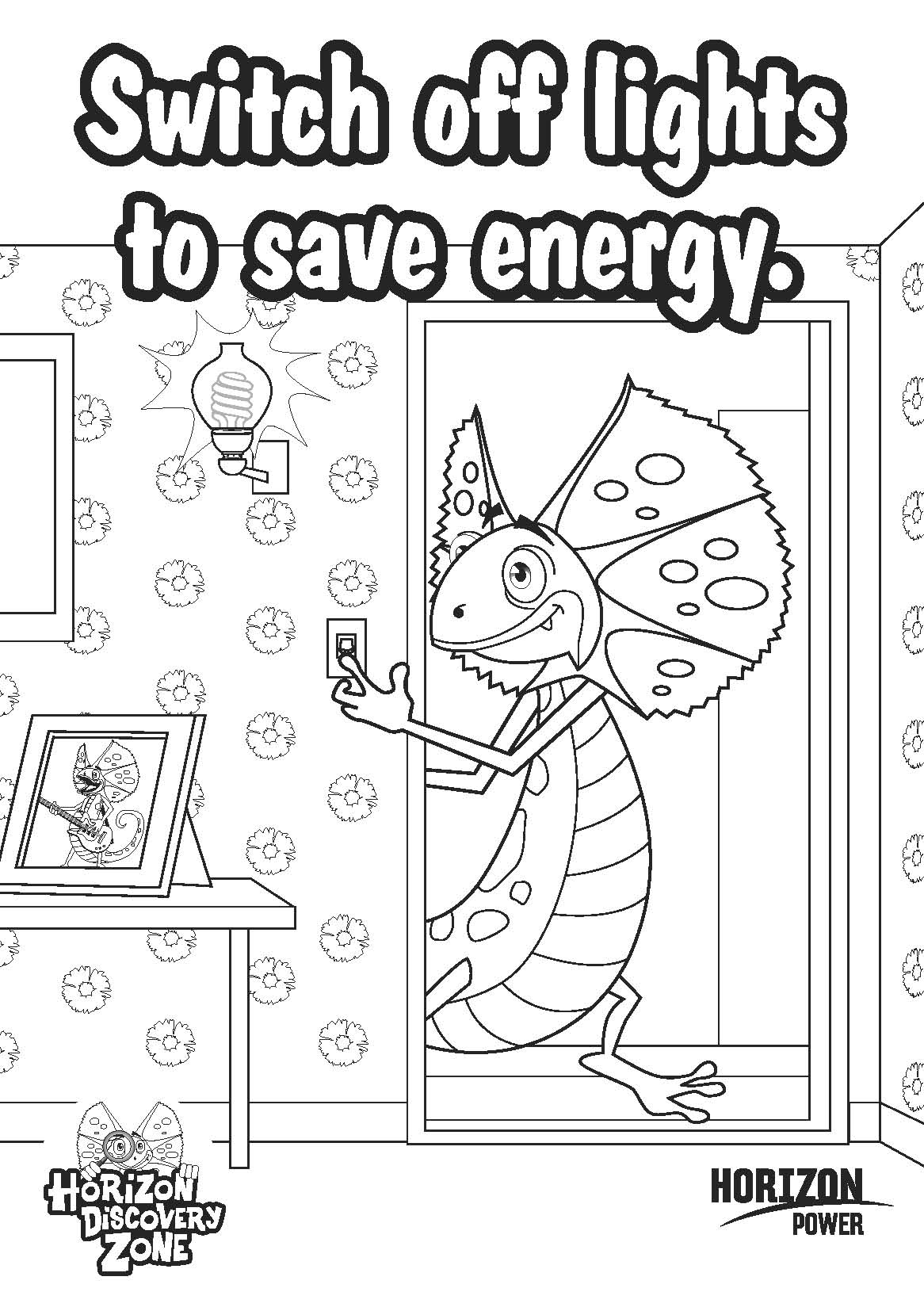 Electricity coloring #1, Download drawings