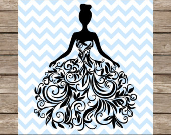 White Dress svg #7, Download drawings