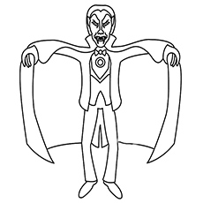 Elegant Vampire coloring #13, Download drawings