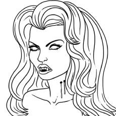 Elegant Vampire coloring #4, Download drawings