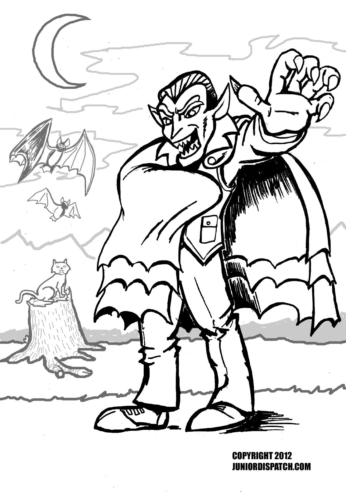 Elegant Vampire coloring #8, Download drawings
