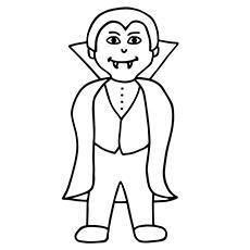 Elegant Vampire coloring #7, Download drawings